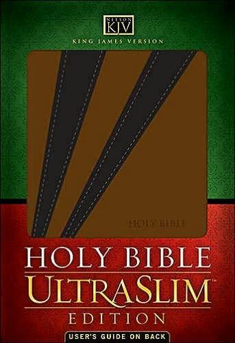 KJV Holy Bible Ultraslim Edition Black/Brown (Imitation Leather)
