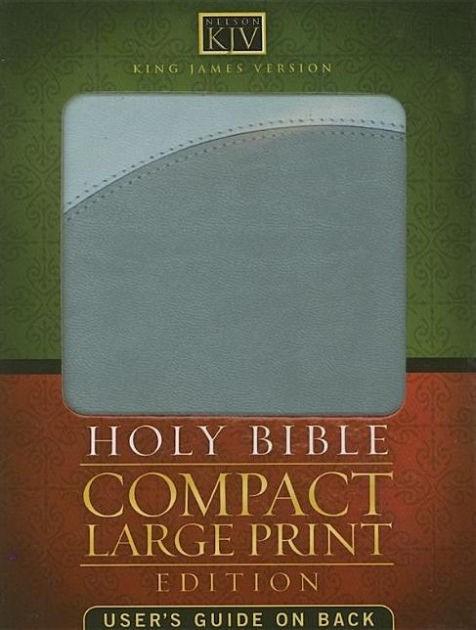 Compact KJV Bible Large Print (Leather Binding)