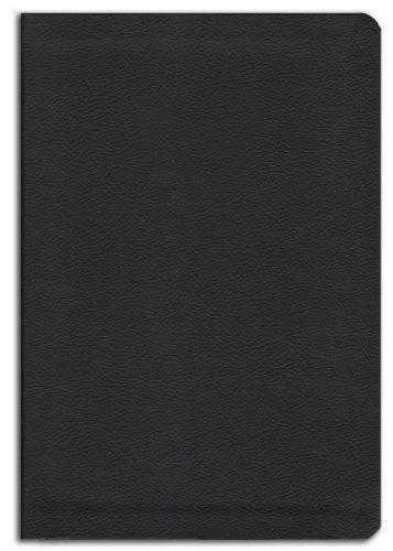 KJV Giant Print Black Leather-Soft Red-Letter Bible (Imitation Leather)