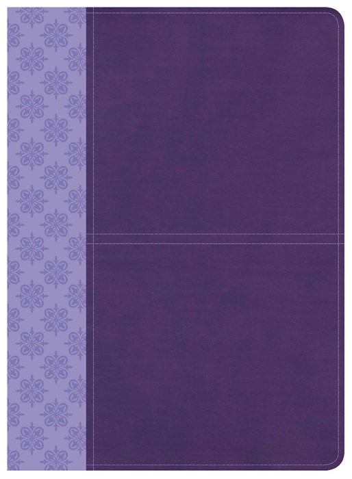 CSB Study Bible, Purple Leathertouch, Indexed (Imitation Leather)
