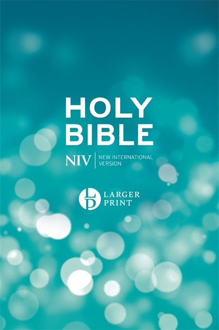 NIV: Larger Print Bible, Blue (Hard Cover)