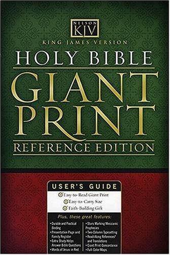 KJV Giant Print Study Bible Black (Leather Binding)