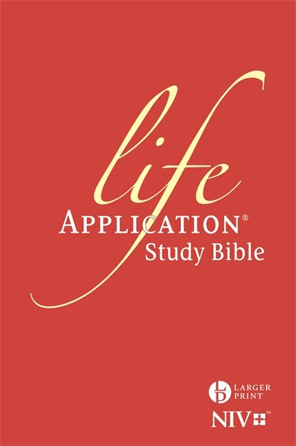NIV Larger Print Life Application Study Bible (Anglicised) (Hard Cover)