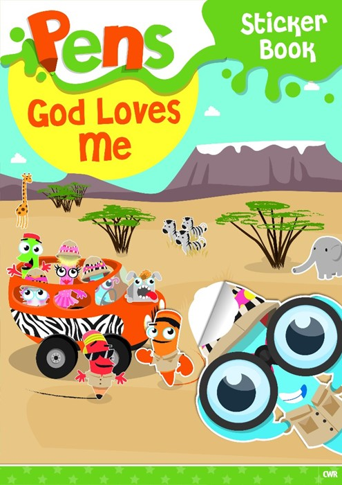 Pens Sticker Book: God Loves Me (Paperback)