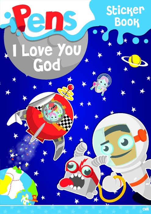 Pens Sticker Book: I Love You, God (Paperback)