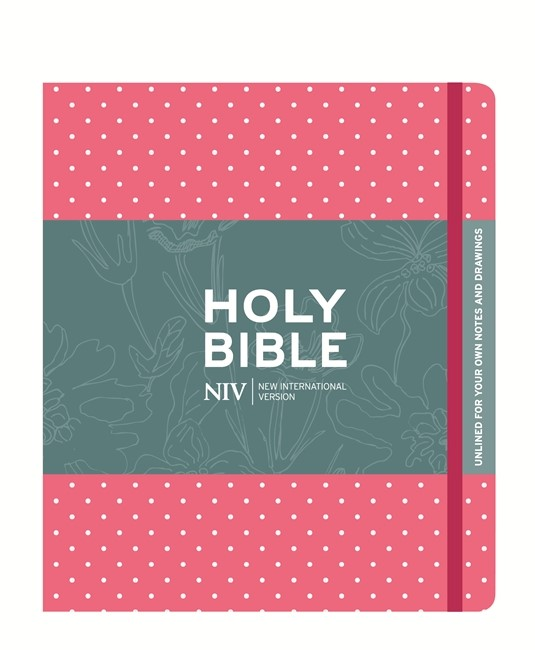 NIV Pink Polka Dot Journaling Bible With Unlined Margins (Hard Cover)