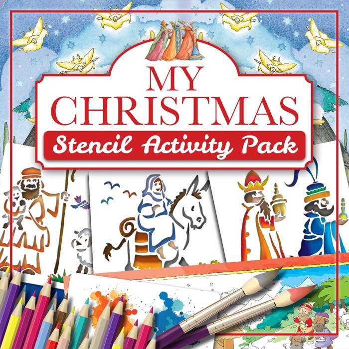 Christmas Stencil Activity Pack (Mixed Media Product)
