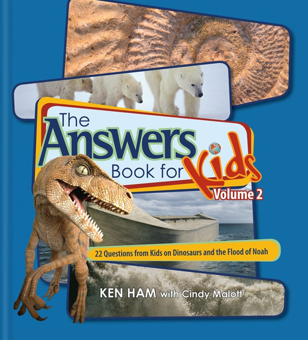 Answers Book For Kids Vol 2: Dinosaurs And The Flood Of Noah (Hard Cover)