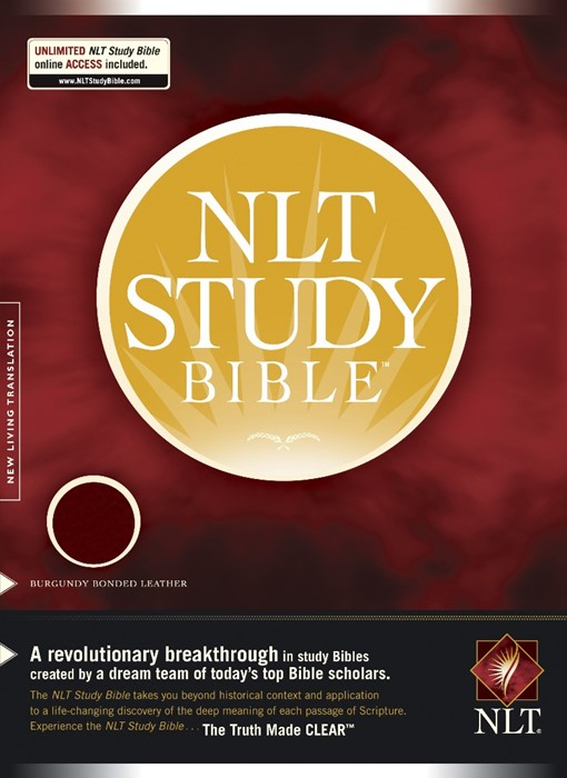 NLT Study Bible, Thumb Index, Burgundy (Bonded Leather)