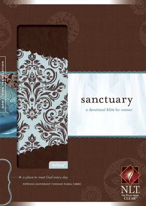 NLT Sanctuary Devotional for Women, Brown (Imitation Leather)