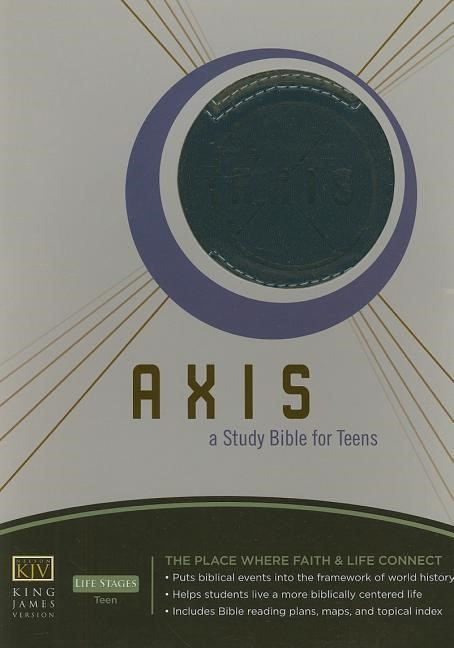 Axis: A STudy Bible for Teens - KJV Blue (Leather Binding)