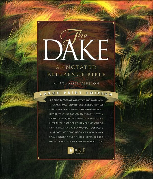 KJV Dake Annotated Reference Bible Large Print (Bonded Leather)