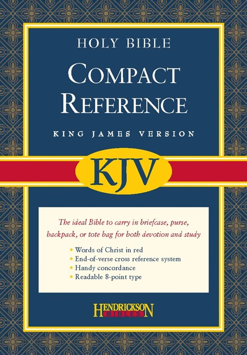 KJV Compact Reference Bible, Burgundy (Bonded Leather)