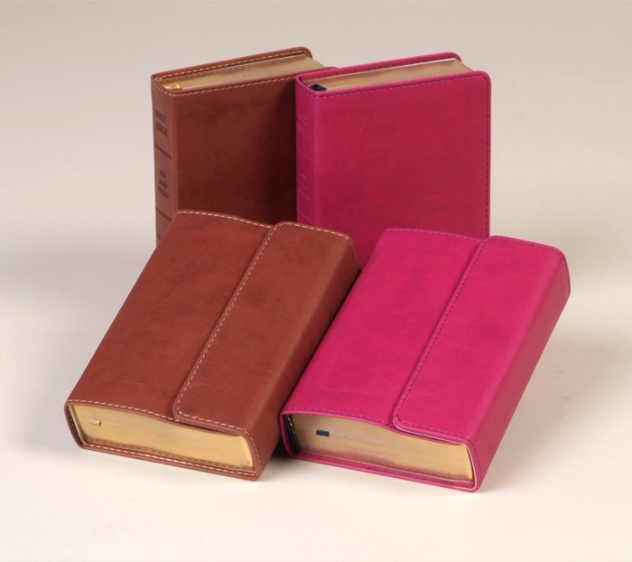 KJV Large Print Compact Reference Bible with Flap, Espresso (Flexisoft)