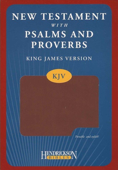KJV New Testament with Psalms and Proverbs Espresso Flexi (Imitation Leather)