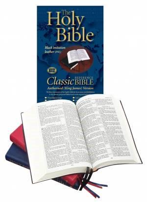 KJV Classic Reference Bible, Black (Vinyl)