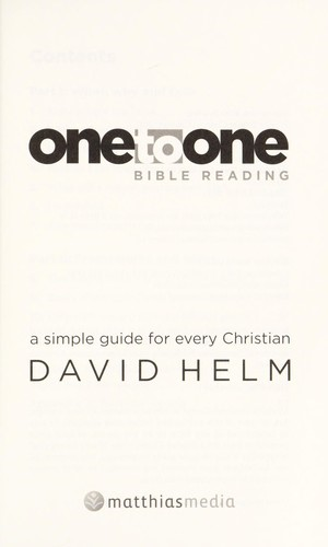 One To One Bible Reading (Paperback)