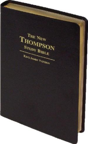KJV New Thompson Study Bible Bonded Leather Black & Gold (Bonded Leather)