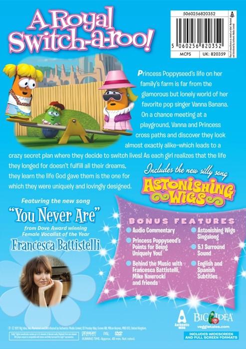 Veggie Tales: Princess & the Pop Star DVD (DVD)