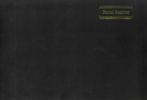 Burial Register F1 Black (Hard Cover)