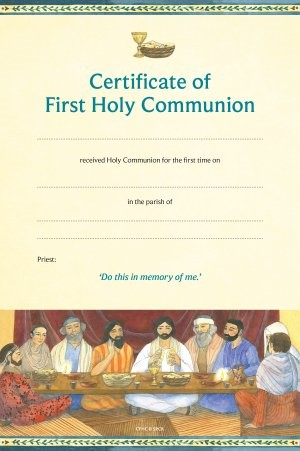 Cert of First Holy Comm CFHC