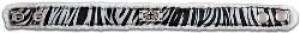 Canvas Bracelet Zebra/Cross