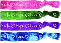 Faith Tie Bands: Faith Hope Love
