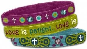Stretch Bangles: Love