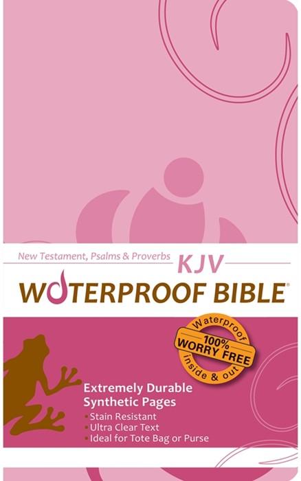 KJV Waterproof New Testament, Psalms & Proverbs Pink Brown