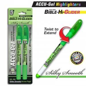 Bible Hi-Glider Green 2 pack (Pen)