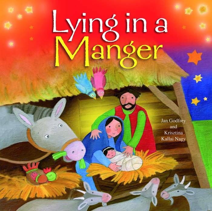 Lying in a Manger (Board Book)