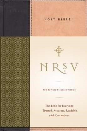 NRSV Standard Bible, Tan/Black (Hard Cover)