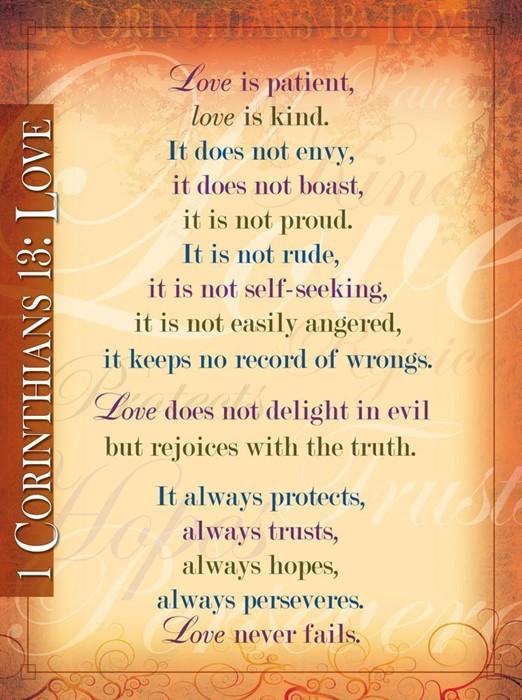 1 Corinthians 13           20x26 (Wall Chart)