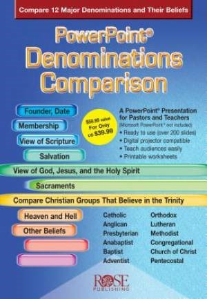 Denominations Comparison - PowerPoint CD-Rom