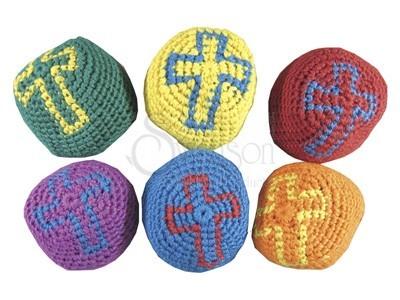 Religious Cross Knitted Balls (pack of 12)
