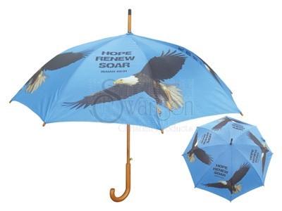 Wooden Stick Umbrella Eagle