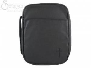 Bible Cover Cross Lge Leather