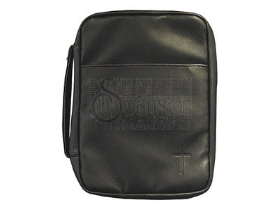 Bible Cover Black Cross Imitation Leather XL (Imitation Leather)