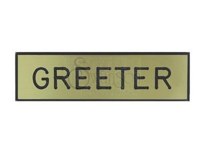 Engraved Form Badge Greeter Gold