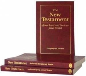 KJV Paragraphed New Testament, Burgundy (Paperback)