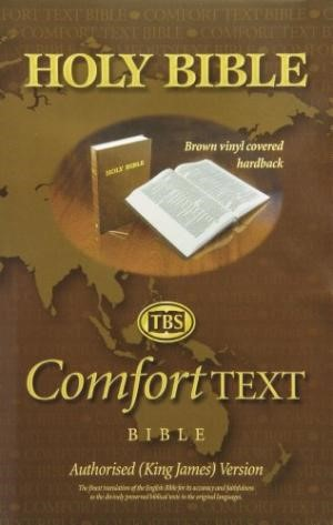 KJV Comfort Text Bible, Brown