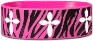 Wide Silicone Wristband: PinkZeb