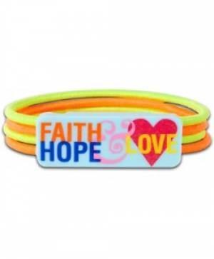 Colour Stretch Bracelet Faith Hope Love