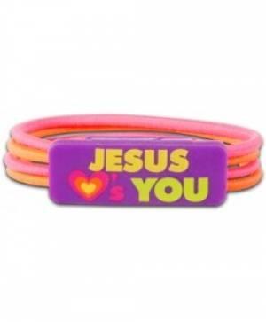 Colour Stretch Bracelet Jesus Loves You