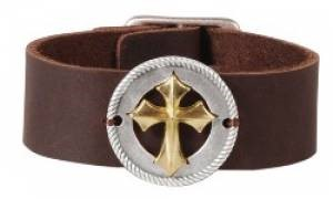 Leather Bracelet Concho