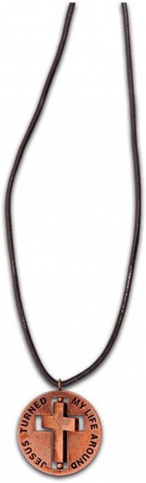 Necklace - Twirl Cross