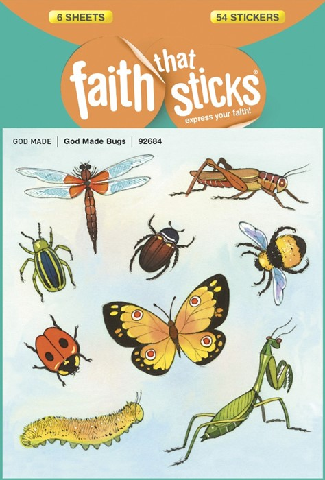 God Made Bugs (Stickers)