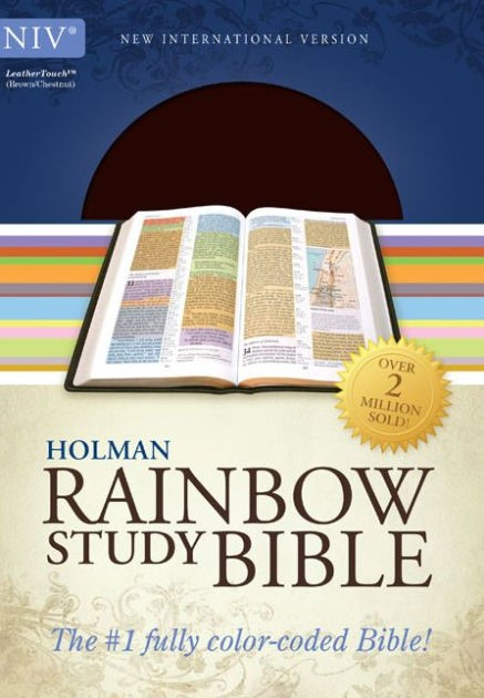 NIV Rainbow Study Bible Brown/Chestnut LeatherTouch (Imitation Leather)