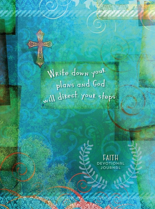 Journal: Write Down Your Plans And God Will Direct Your Step (Hard Cover)