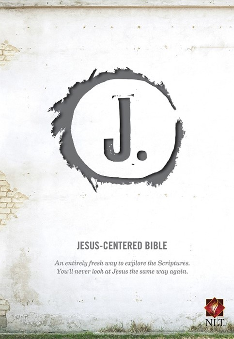 NLT Jesus-Centered Bible Charcoal (Imitation Leather)
